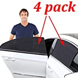 Kribin 4 Pack Car Window Shade, Car Sun Shade for Baby - Car Side Rear Sun Shade with UV Rays Protection - 2 Pack for Front Window and 2 Pack for Back Window