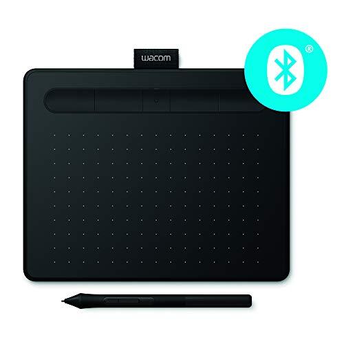 Wacom Intuos M - Tableta Gráfica Bluetooth para pintar, dibujar y editar photos con 3 softwares creativos incluidos para descargar, Windows & Mac, óptima para oficina en casa y e-learning, negra