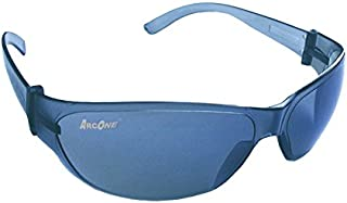 ArcOne SE-1003 Safety Eyewear/Protective Glasses with Smoke Lens & Blue Frame with Blue Mirror (10-Pack)