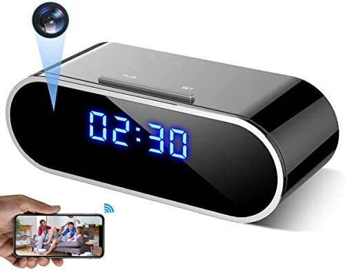 WEMLB EL 726 HD 1080 P WiFi Hidden Camera Alarm Clock Night Vision Motion Detection Loop Recording product image