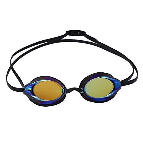 BOLORAMO Gafas de natación, Gafas de natación Impermeables Accesorio de Nadador Gafas de natación Hombres Lente de PC de Alta definición para Nadar(Negro)