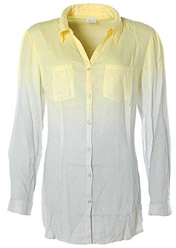 Aniston Damen Long Bluse Grau Gelb 44