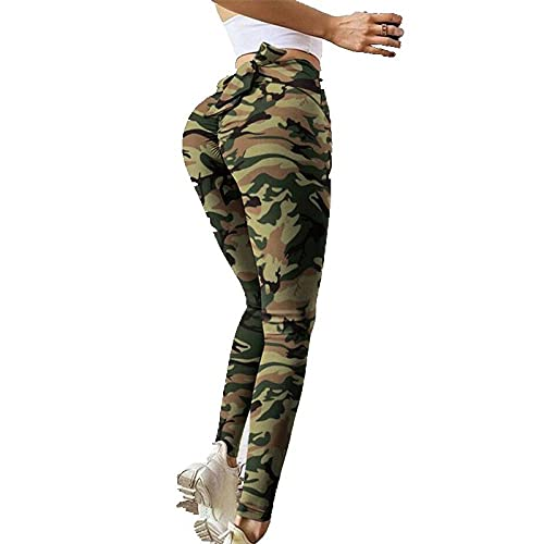 Leggings Cintura Alta para Mujer,Leggings Deportivos De Cintura Alta Mallas De Entrenamiento para Mujer Leggings De Yoga Elásticos Negros con Estampado De Flores Leggings De Yoga Opacos para Gimnas