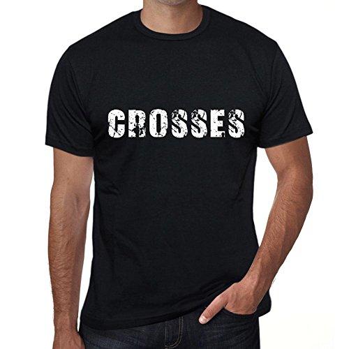 One in the City Hombre Camiseta Personalizada Regalo Original con Mensaje Divertido Crosses L Negro