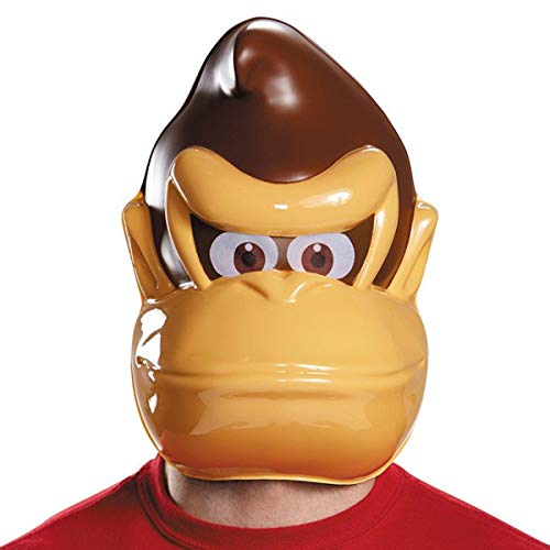 Disguise Donkey Kong Mask Costume Accessory, Brown, One Size
