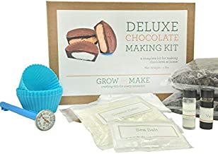 Grow and Make Deluxe DIY Chocolate Making Kit - Learn how to make your own truffles and chocolate cups at home!