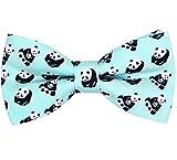 OCIA®Hombre/niños Hecho a Mano Clásicos Diseño original del patrón animal lindo Pajarita (Panda, M - (6 años para adultos jóvenes))