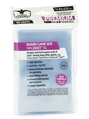 Ultimate Guard Dixit Premium Soft Sleeves - Funda para tarjetas de juego de mesa, 81 x 122 mm (10284)