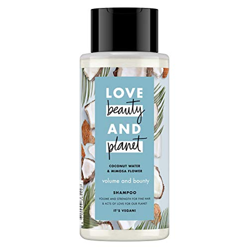 Love Beauty And Planet Coconut Water and Mimosa Flower Vegan Shampoo, Hair Care For Men And Women, Fresh Moistuiriser, Softens And Cleans All Hair Styles And Colours (400 ml)