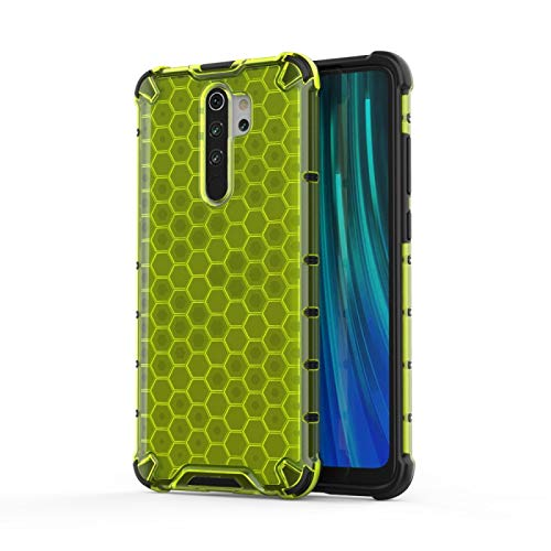 Liluyao Funda telefónica para Xiaomi por 8 Pro Caja de la PC TPU Prueba de Golpes de Nido de Abeja Xiaomi redmi Nota (Color : Green)