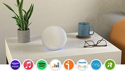 Echo (4.ª generación) | Sonido de alta calidad, controlador de Hogar digital integrado y Alexa | Blanco