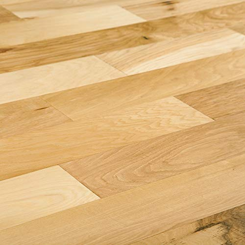 """Engineered Hardwood - Planet Hickory Handscraped Collection - Natural Hickory Handscraped 5""""- Family Friendly with Maximum Scratch and wear resistant-2x More dent Resistant - Sample"""