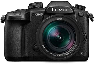 Panasonic Lumix GH5 20.3MP 4K Mirrorless Camera with Leica DG Vario-Elmarit 12-60mm F2.8-4.0 Lens and 64GB SDXC Memory Card (Black)