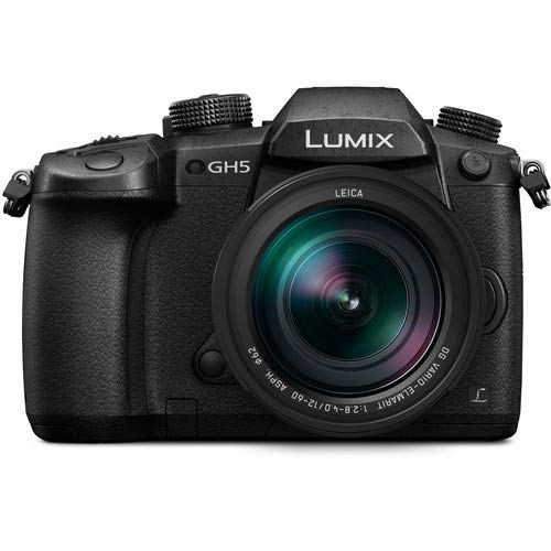 Panasonic Lumix GH5 20.3MP 4K Mirrorless Camera with Leica DG Vario-Elmarit 12-60mm F2.8-4.0 Lens and 64GB SDXC Memory Card (Black)