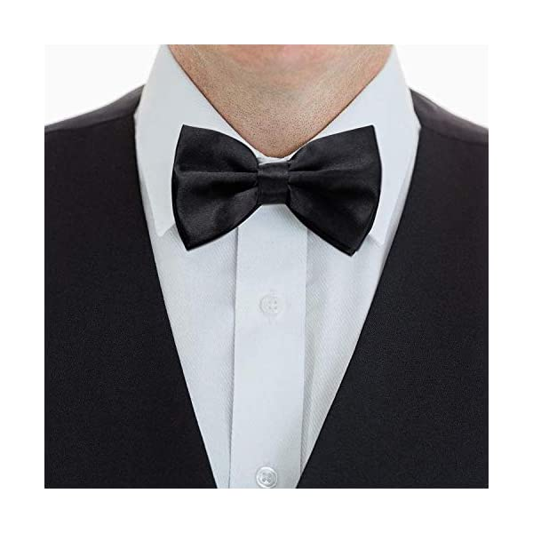 Elegant Pre-tied Bow ties Formal Tuxedo Bowtie Set with Adjustable Neck Band,Gift Idea For Men And Boys(5/8/10/20 Pcs), 10 Pcs6, Medium