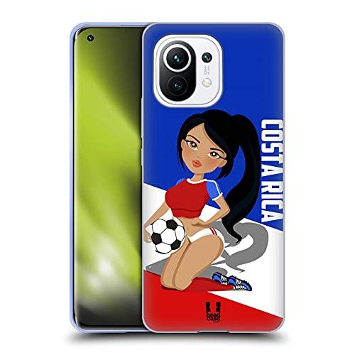 Head Case Designs Costa Rica Carteles de Fútbol Carcasa de Gel de Silicona Compatible con Xiaomi Mi 11