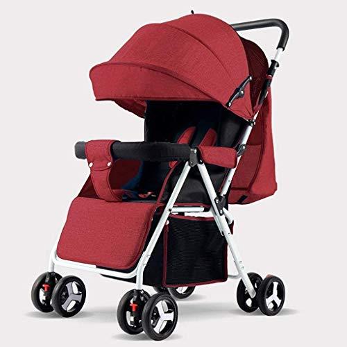 BESTPRVA Portátil cochecito de bebé del carro de bebé del cochecito del cochecito de bebé, cochecito de niño plegable carro con arnés de 5 puntos, conveniencia cochecito, cochecito ligero marco de alu