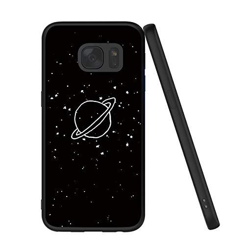 Yoedge Samsung Galaxy S7 Hülle, Silikon TPU Schutzhülle [Slim Stoßfest] Ultra Dünn Schwarz mit Muster Motiv Handyhülle 360 Bumper Soft Case Cover für Samsung S7-5,1 Zoll, Pflanzen