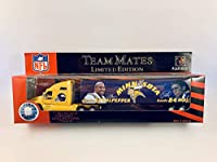 2001 Fleer Collectibles NFL Team Mates 1:80 Scale Diecast Tractor Trailer - MINNESOTA VIKINGS Daunte Culpepper and Randy Moss