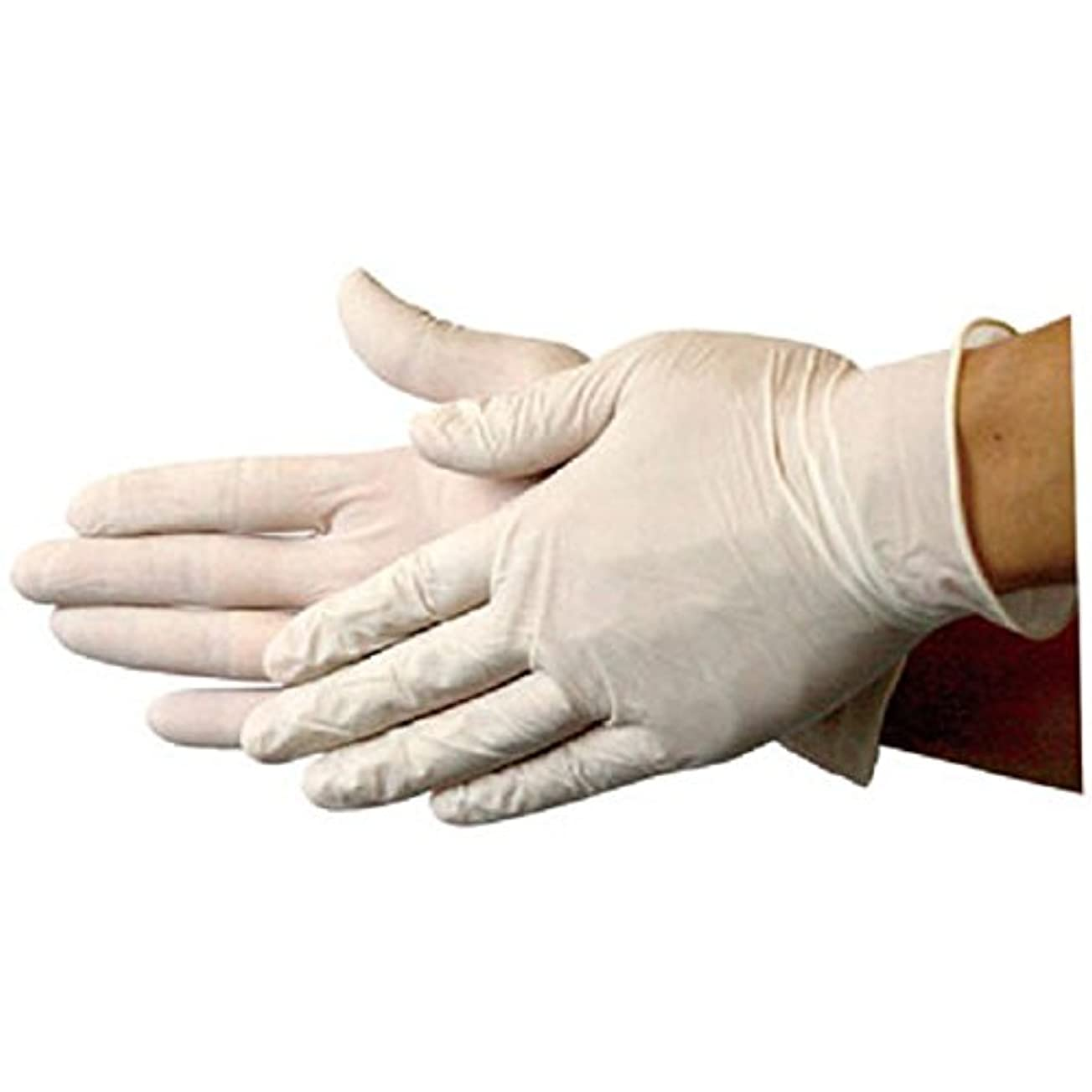 開いた昆虫を見る否認するラテックス手袋(M) 100枚 業務用手袋(EG?????750白)