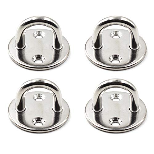 304 Stainless Steel Round Eye Pad Plate 5/16' 8mm Anchor Mount Great for Yoga Swings Hammocks/Boat Rigging/Marine Deck Hardware/Suspension Training Straps