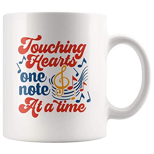 N\A Taza de una Nota a la Vez de Corazones conmovedores para el Profesor de música Orgulloso, Taza de café del Profesor de Coro, Regalo para el Primer día de Clases