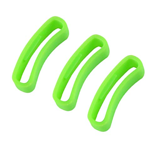 KHZBS Rubber Strap Loop Silicone Watch Band Ring Compatible with suunto core/Ambit Series 24mm Strap (3 Packs)