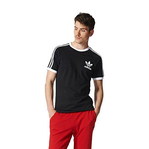 adidas Originals California - Camiseta para Hombre, Color Negro y Blanco, 2XL