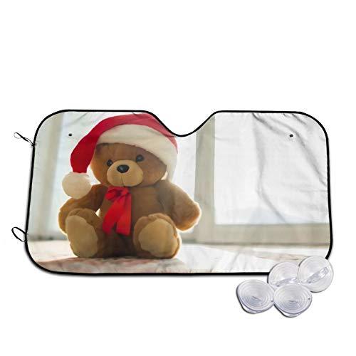 Navidad Newyear Teddy Bear Car Sunshades ventana delantera moda vehículo interior accesorios anti-UV sombreado aislamiento sombra