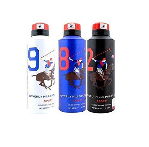 Beverly Hills Polo Club - Desodorante para hombre (3 unidades)