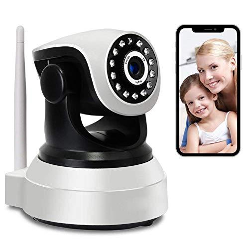WiFi IP Cámara Monitor de Bebé 1080P HD PTZ Cámara de Vigilancia Interior,HD IR Visión Nocturna,Email Alarm,Control APP,Alarma de Movimiento,Audio Bidireccional,iOS/Android 【Cámara+32G-TF-Tarjeta】