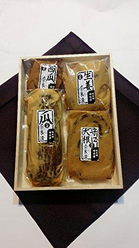 奈良漬 特選 木箱 5,100 奈良で作りました 瓜 守口大根 西瓜 生姜 国産材料 使用