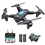 DEERC Drone with Camera for Adults and Kids 1080P HD FPV Live Video, RC Quadcopter Helicopter with Waypoints, Altitude Hold, One Key Start, HeadlessMode, 3D Flip, Long Flight