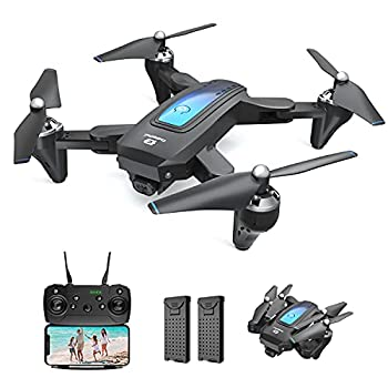 DEERC Drone with Camera for Adults and Kids 1080P HD FPV Live Video RC Quadcopter Helicopter with Waypoints Altitude Hold One Key Start HeadlessMode 3D Flip Long Flight