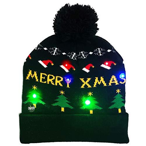 Light Up Ugly Christmas Beanie White Elephant Gift