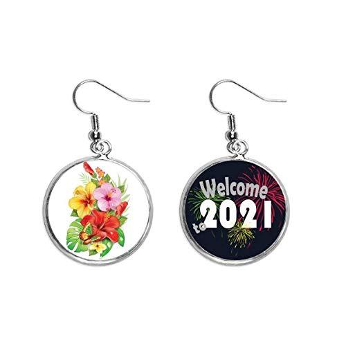 Ramo Flores Mariposa Mejor Deseo Pendientes Pendientes Joyería 2021 Bendición