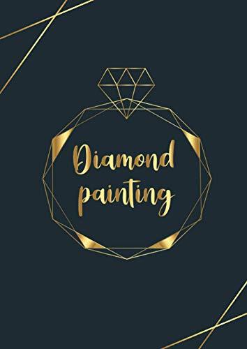 Diamond painting: Cadeau parfait pour les passionnés de la broderie diamant ,Diamond Painting Kit Carnet avec Fiches à remplir .