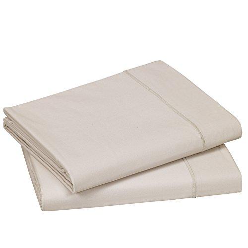 Blanc des Vosges Uni Percale Drap Coton Lin 240 x 300 cm