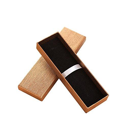 Zhi Jin Exquisite Schmuck-Kugelschreiber-Geschenkbox mit Kissen, leere Etuis, Sammlungsset für Jahrestag, Geschäft, Gold, 5 Stück