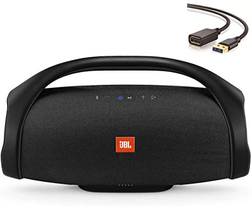 JBL - Boombox Portable Bluetooth Speaker, 60W RMS System Power, IPX7 Water-Resistant, 20,000 mAh Battery up to 24 Hours of Nonstop Playback - Black- EneOus USB Extension Cord