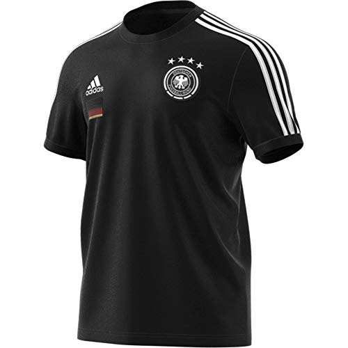 adidas Herren Herren T-Shirt DFB 3Streifen T-Shirt, Black, XL, FI1461
