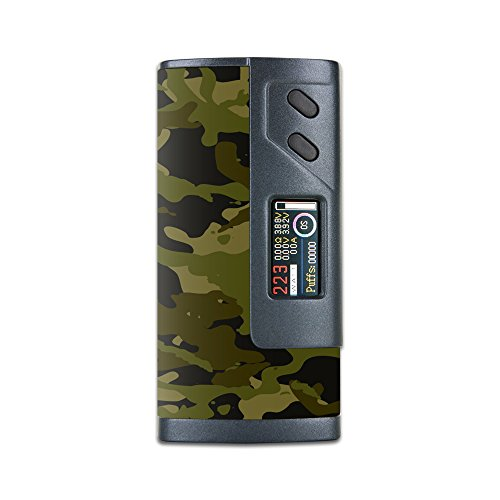 MightySkins Skin Compatible with Sigelei Fuchai 213W Plus – Green Camouflage | Protective, Durable, and Unique Vinyl Decal wrap Cover | Easy to Apply, Remove, and Change Styles | Made in The USA