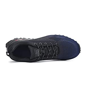 Dannto Men's Cross Trainer Shoes Training Outdoor Hiking Sneakers Trail Running Athletic Shoes Walking Camping Trekking Tennis Shoes Blue Size 12