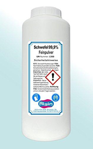 Algin Schwefelpulver 1Kg Eimer Schwefel-Fein-Pulver gereinigt und fein