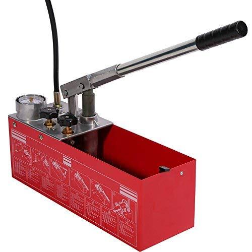 Test Pumpe Druck, Max. Druck 5Mpa bicolor Wassersystem aus Metall für normgerechten Prüfung der Druck des Rohr Wasser-System A Hand