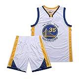 QPY Kevin Durant Golden State Warriors #35 - Camiseta de baloncesto unisex Swingman (S-XXL), color blanco