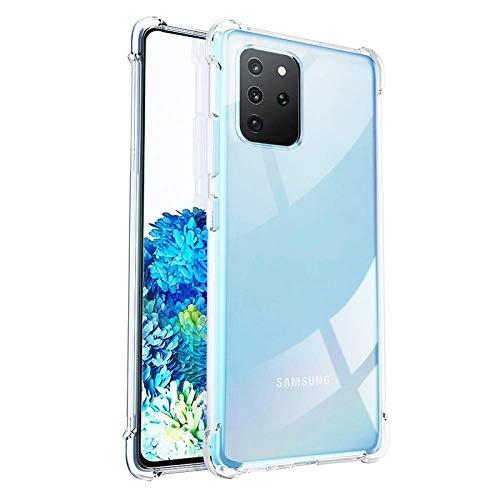 RKINC Case ForSamsung Galaxy S20 Plus, Crystal Clear Reinforced Corners Soft TPU Bumper Cushion + Hybrid Rugged Hard Transparent Panel Cover forSamsung Galaxy S20 Plus