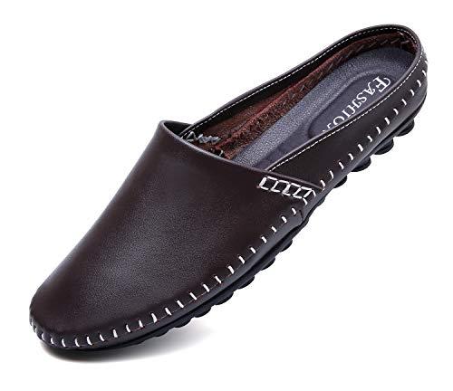 [T.B] メンズ サンダル ビジネス オフィスサンダル 事務所 革靴 室内履き 社内履き 005-zong-25.0cm-40