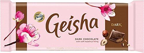 2 Bars x 100g of Fazer GEISHA Finnisch Dunkle Schokolade mit weichem Haselnuss Füllung