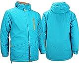 Starling - Cazadora de esquí y Snowboard para Hombre, otoño/Invierno, Hombre, Color Azul - Aqua Grau Orange, tamaño S